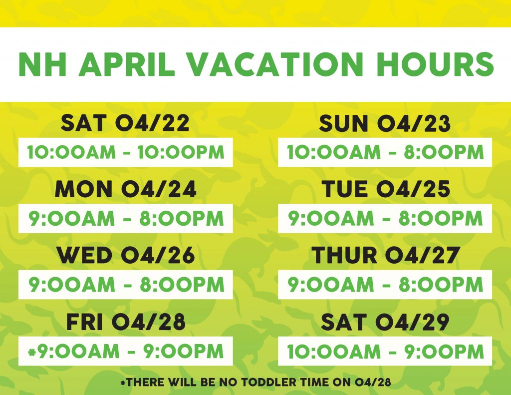 April Vacation Hours