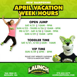 NH April Vacation Hours